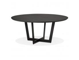 Table de salle à manger ronde 'LULU' en bois et métal noir - Ø120 cm