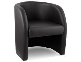 Fauteuil de salon 1 place MAX en matière synthétique noire - Alterego