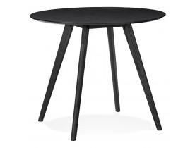 Table de cuisine ronde 'MIDY' noire style scandinave - ø 90 cm