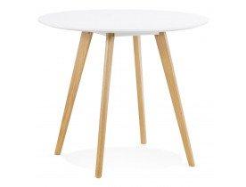 Table de cuisine ronde 'MIDY' blanche style scandinave - ø 90 cm