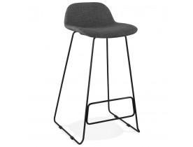 Tabouret de bar design 'MOSKOW' noir style industriel avec pieds en métal noir