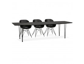 Table à dîner / de réunion extensible 'MOTUS' noire - 170(270)x100 cm