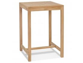 Table haute intérieur/extérieur 'MOUSTIK BAR' en bois Teck naturel - 70x70 cm