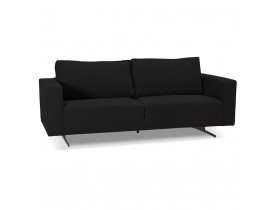 Canapé droit design 3 places 'MOZART' noir