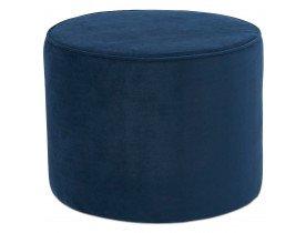 Pouf / repose-pied design 'MOSTRA' en velours bleu pétrole