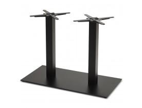 Pied de table 'NERO DOUBLE' 75 en métal peint noir
