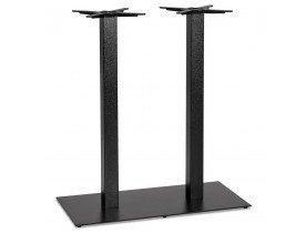 Pied de table 'NERO DOUBLE' 100 en métal peint noir