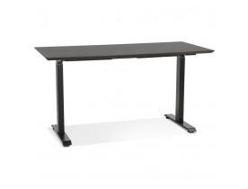 Bureau réglable en hauteur 'NOVELLA' en bois et métal noir - 150x70 cm