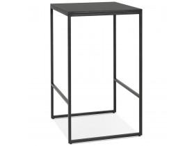 Table haute style industriel 'ORTOS' noire idéale pour les professionnels