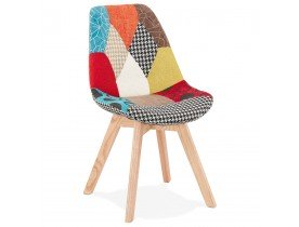 Chaise design 'PATCHY' en tissu style patchwork