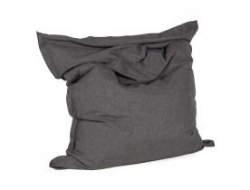 Pouf géant ' PILO ' en tissu chenille gris anthracite 135x175 cm
