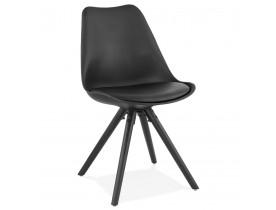 Chaise design 'PIPA' noire