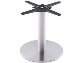 Pied de table 'PLATO' 45 en acier brossé avec base ronde