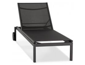 Chaise longue de jardin 'PREMIA' noire - commande par 2 pièces / prix pour 1 pièce