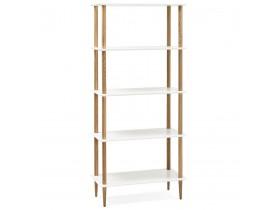 Etagere design RACK blanche en bois style scandinave - Alterego