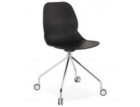Chaise de bureau moderne 'RALLY' noire sur roulettes