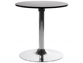 Table d'appoint 'SATURN' noire design pour coin bar lounge