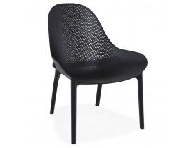Fauteuil lounge de jardin perforé 'SILO' noir design