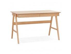 Bureau droit design 'SIROKO' en bois naturel - 120x70 cm