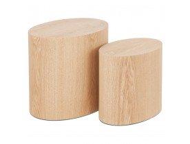 Set de 2 tables d'appoint 'SOKLE' en bois finition naturelle