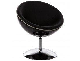 Fauteuil design boule 'SPHERA' pivotant 360° noir