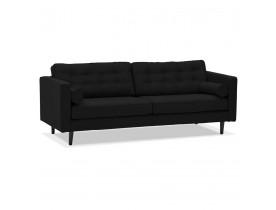 Grand canapé droit 'STAGU XL' en tissu noir - Canapé 3 places
