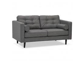 Canapé droit design 'STAGU' en tissu gris foncé - Canapé 2 places