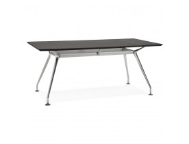 Bureau / table de reunion STATION en bois peint noir - Alterego
