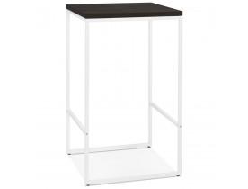 Table haute design 'STRAMOS' finition Wengé avec structure blanche vouée aux pro de la restauration