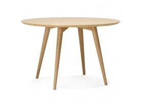 Table à dîner ronde SWEDY en bois style scandinave de 120 cm de diamètre - Alterego