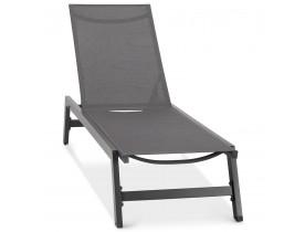 Chaise longue de jardin 'TARIFA' gris foncé - commande par 2 pièces / prix pour 1 pièce