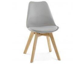 Chaise moderne TEKI grise - Alterego