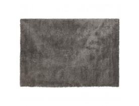 Tapis de salon shaggy 'TISSO' gris foncé - 160x230 cm