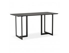 Table à diner / bureau design TITUS en bois noir - 150x70 cm - Alterego