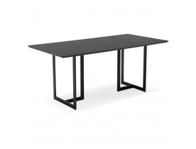 Table à diner / bureau design TITUS en bois noir - 180x90 cm - Alterego