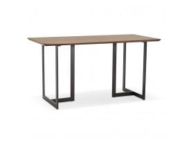 Table à diner / bureau design TITUS en bois de noyer - 150x70 cm - Alterego