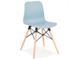 Chaise scandinave 'TONIC' bleue design