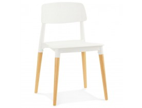 Chaise moderne 'TRENDY' blanche style scandinave