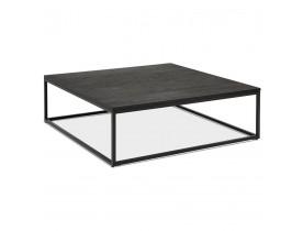 Grande table basse style industriel 'TRIBECA' en bois et métal noir