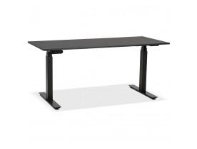 Bureau ergonomique électrique 'TRONIK' noir - 160x80 cm