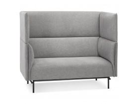 Canapé acoustique 2 places 'VISAVI' avec haut dossier en tissu gris clair