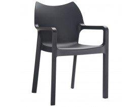 Chaise design de terrasse 'VIVA' noire en matière plastique