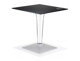 Table de terrasse carrée 'VOCLUZ' noire intérieur/extérieur - 68x68 cm