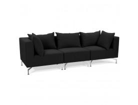 Canapé modulable design 'VOLTAIRE' noir
