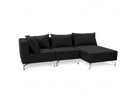 Canapé d'angle modulable 'VOLTAIRE L SHAPE' noir (angle au choix)