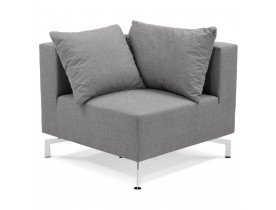 Element de canape modulable VOLTAIRE CORNER gris - Alterego