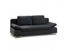 Canapé-lit convertible WAZA en tissu gris fonce - Alterego