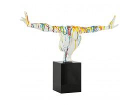 Statue déco ' WISE ' athlète homme en polyrésine multicolore