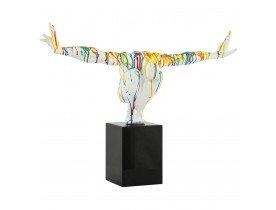 Statue déco 'WISE' athlète homme en polyrésine multicolore