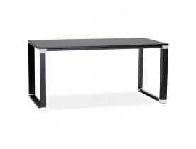 Bureau droit design 'XLINE' en bois noir - 160x80 cm